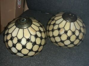 Pair of tiffany style lampshades