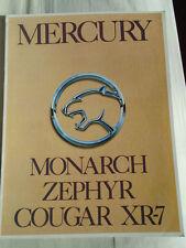Mercury range brochure 1980's Japanese text Monarch, Zephyr, Cougar XR7