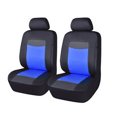 PU Leather Universal Front Car Seat Covers Black Blue Auto Seat Cushion for Men