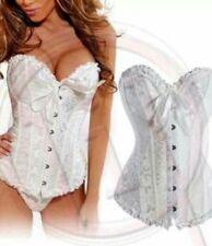 White corset and thong xl 12/14 goth steampunk burlesque