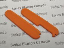 Swiss Bianco Bright Orange G10 Scales for Victorinox 91mm Swiss Army Knife