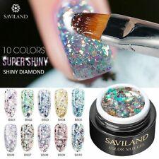 Glitter Gel Paint Hybrid Diamond LED Nail Polish UV Nail Art Manicure Varnish