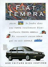 Publicité Advertising 1990  FIAT TEMPRA Berline 5 Places