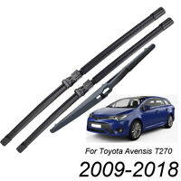 Front Rear Windscreen Wiper Blades For Toyota Avensis T270 ZRT27 ADT27 Estate