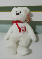 TY BEANIE KID MAPLE CANADA BEAR RED AND WHITE