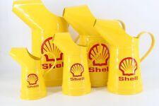 Shell Five Piece Oil Can Jugs Motor Oil 5 Piece Vintage Petrol Can Pourer