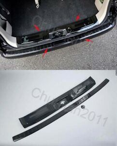 inner Outer Rear Bumper Protector door Sill Plate Cover For Nissan NV200 Black 2