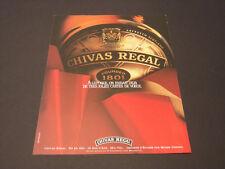 CHIVAS REGAL Années 1985's - 1990's  Advertising Vintage AD Pub Paper 1980  1990
