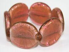 DUSKY PINK silver foil MURANO GLASS BRACELET/BANGLE