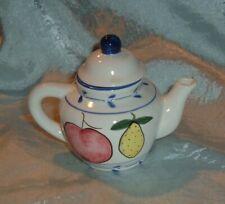 Miniature collectible Tea Pot, Hand painted Porcelain no makers mark