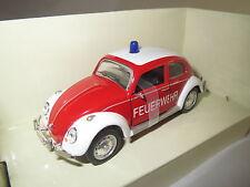 """Schuco Junior Line  VW  Käfer - Beetle  """"Feuerwehr""""  (rot/weiß)  1:43  OVP !!!"""