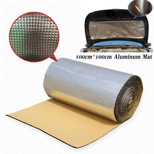 10mm Car Door Hood Mat Sound Deadener Fire Heat Insulation Absorber 100cm*100cm
