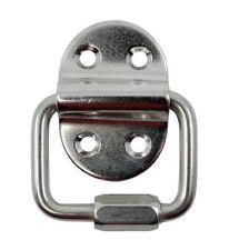 KAMERO Edelstahl Augplatte Klappauge, Halterung mit klappbarem Schraub-Ring V4A