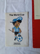 ADESIVO STICKER VINTAGE 80s THE WORLD CUP ARGENTINA 1978 GAUCHITO