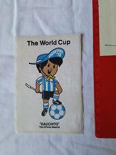 ADESIVO STICKER VINTAGE 80s THE WORLD CUP ARGENTINA 1978 GAUCHITO