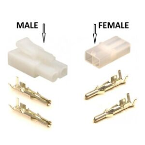 Battery Charger Connectors + Terminals (Accumate Compatible) - Male/Female/Set