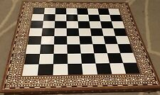 28Inches (71cm)Large Handmade Indian White  Inlaid Folding Chess  32 Pieces