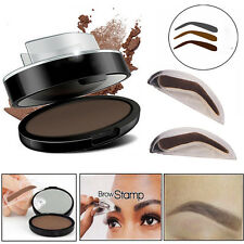 3 in1 Natural Type Stamp +Eyebrow Powder Makeup Brow Delicated Shadow Definition