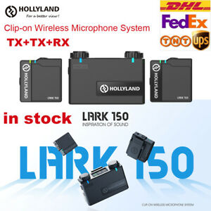 Hollyland LARK 150 Clip-On 2.4G Wireless Microphone System for Live Streaming
