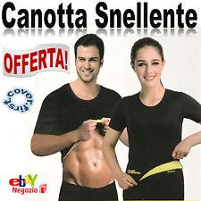 CANOTTA SNELLENTE MAGLIA FITNESS UOMO DONNA HOT SHAPERS DIMAGRANTE x ADDOMINALI