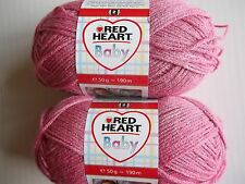 Red Heart  Baby yarn, Pink, lot of 2 (209 yds ea)