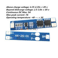 2S 5A Li-ion Lithium Battery 18650 Charger Protection Board BMS Module 7.4V 8.4V