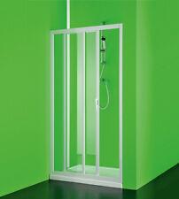 Box porta frontale doccia Maestro pvc,misura cm120-110,nicchia scorrevole bianco