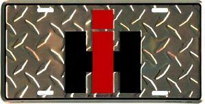 IH INTERNATIONAL HARVESTER TRACTOR TRUCK IHC METAL AUTO LICENSE PLATE #2150