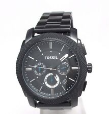 Fossil Chronograph Black ion-plated Mens Watch FS4552 Scratches
