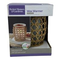 Better Homes and Gardens Wax Melts Warmer Woven Rattan New Melter