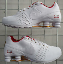 Women's NIke Shox Deliver Sneakers, New White Gold Sport Life Running Shoes Sz 6