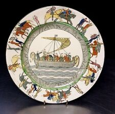 "RARE ROYAL DOULTON THE BATTLE OF HASTINGS 9 1/2"" PLATE FROM THE BAYEUX TAPESTRY"