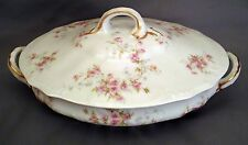 Theodore Haviland Oval Covered Vegetable - Pink Roses Harrison Rose S150