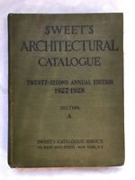 1927-1928 SWEET'S ARCHITECTURAL CATALOG Twenty-Second Annual Edition Section A