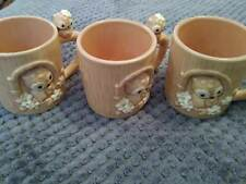 JOSEF ORIGINALS OWL MUGS SET OF 3 MADE IN JAPAN FREE SHIPPING