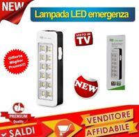 LAMPADA DI EMERGENZA LED MINI torcia portatile RICARICABILE ALTO RENDIMENTO 7073