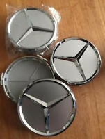 4x Mercedes-Benz Nabendeckel Radnabendeckel 75mm Chrome Felgendeckel NEU