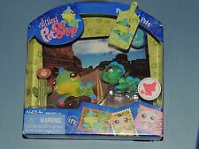 NEW LITTLEST PET SHOP POSTCARD PETS IGUANA #906 inc CACTUS FLOWER & PINK GLASSES