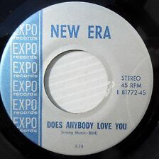 NEW ERA sunshine pop strong VG++ 45 DOES ANYBODY LOVE YOU EVERYTHING YOU ARE jrW