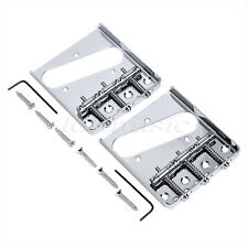 2pcs Chrome Guitar Vintage Bridge For Fender Telecaster Tele Assembly 3 Saddle