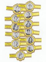 12 cigar bands Principal Famous Women With Principal yellow iss in 1972