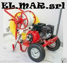 Motopompa Antincendio Motore 6,5 HP 4 Tempi Benzina Autoadescante Carrellata