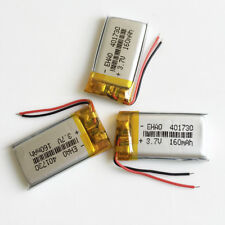 3 pcs 3.7V 160mAh rechargeable li po Battery 401730 For Mp3 headphone video pen