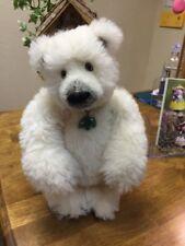 """New Beautiful Handmade Artist Polar Bear by Sharon Queen, Mohair - """"Everest"""""""