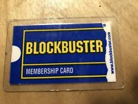 Vintage Blockbuster Memebership Card