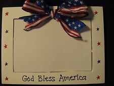 4th of July Americana patriotic military God Bless America picture photo frame