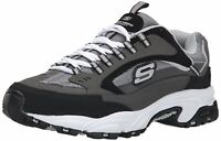 Skechers Mens Cutback 51286 Low Top Lace Up Running, Charcoal Cutback, Size 9.0