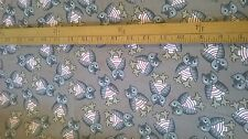 cotton needlecord fabric, owls design  by the metre