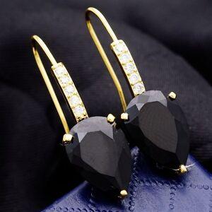 Ohrringe Rhodium 18K vergoldet + Zirkonia Steine Luxus Ohrstecker Ohrschmuck