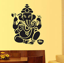 57004 | Wall Stickers Wall Decals Lord Ganesha Design in Black-